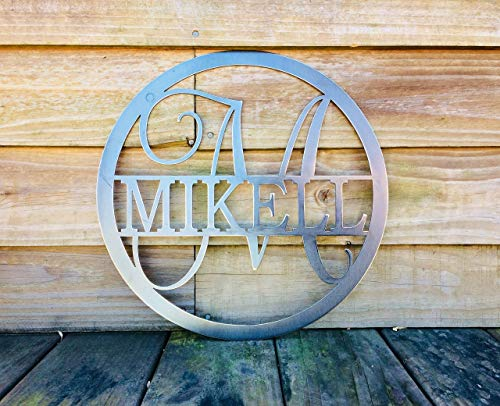 15 Inch Customized Monogrammed Family Name (Monogrammed Home Decor)