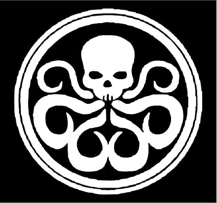 Amazon Com All About Families Avengers Hydra Symbol White