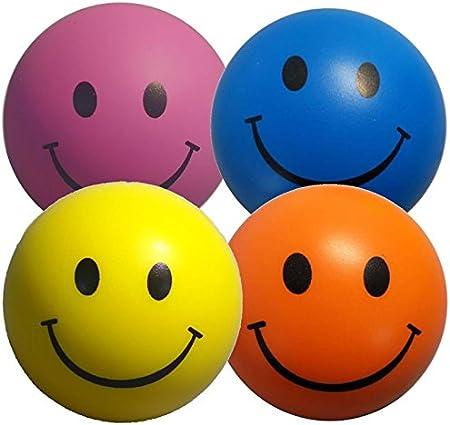 Pelota Anti Estrés - 4 x Bola Anti-Estrés de Colores Mezclados ...
