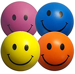 Stress Balls 4 X Mixed Colour   Sensory Toys   Yellow, Pink, Blue And  Orange Stress Ball   Stress Relief Toys For ADHD And Autism
