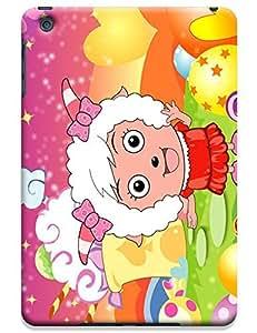 Love Cartoon Sheep lady cel phone cases design for Apple Accessories iPadmini iPad Mini