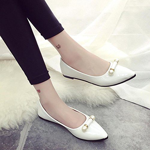 Vovotrade Plana Casual Breathable Shoes Embarazada Ladie Perlas Blanco Moda Mujer Zapato wtqrzt