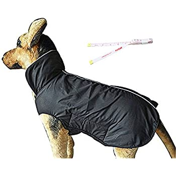 PetCee Dog Jacket Waterproof Fleece Lined Jacket Reflective Loft Dog Coat Climate Changer Fleece Jacket (Black L)