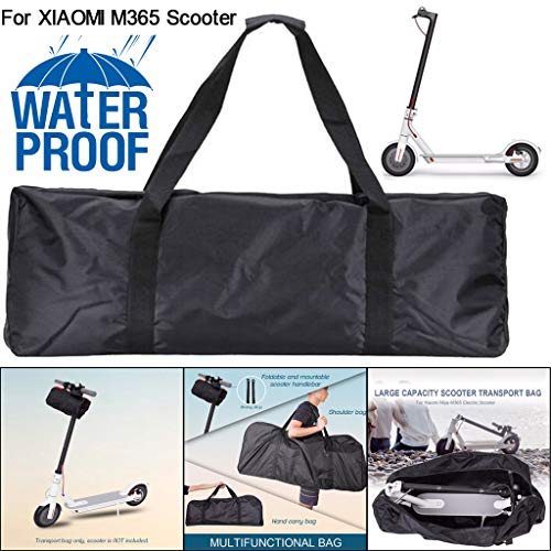 (Sodoop Scooter Carrying Bag for Xiaomi Mijia M365 Portable Kickscooter Waterproof Handbag Folding Carry Backpack Handbag 1680D Oxford Cloth Transport Bag,43.3 x17.7 x19.7 inch,Black)