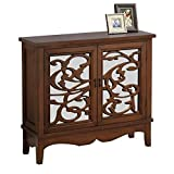 Monarch I 3840 Mirror Traditional Style Accent Chest, Dark Walnut