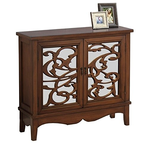 Monarch I 3840 Mirror Traditional Style Accent Chest, Dark Walnut by Monarch