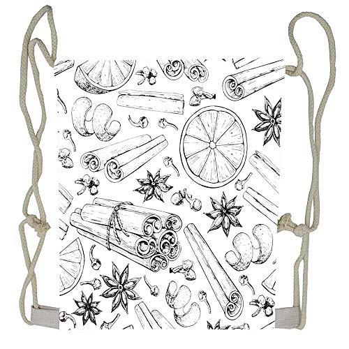 - WATINCFlagHomegg Mulled Wine Ingredients Cinnamon Stick Tied Bunch Anise Star Drawstring Backpack Fashion Design Shoulder Sack Gym Bag