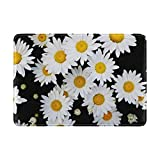 My Daily Daisy Flower Spring Summer Floral Leather Passport Holder Cover Case Protector