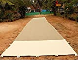 Cricket Matting, Heavy Duty Jute with Canvas Ends and Grommets, 8' X 64'
