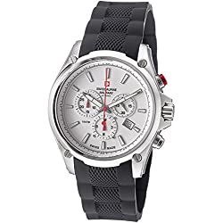 Swiss Alpine Military Red Force Men's White Dial Swiss Quartz Chronograph Watch 1635.9832 SAM