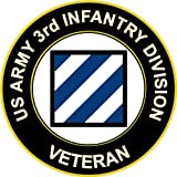 "3.8"" US Army 3rd Infantry Division Veteran Decal Sticker"