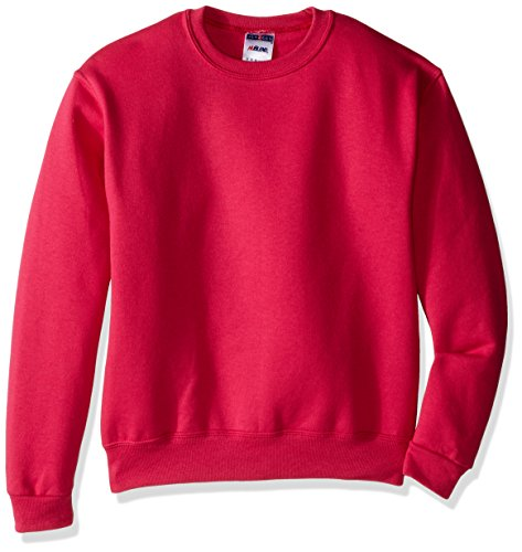 Jerzees Youth Fleece Crew Sweatshirt, Cyber Pink, Medium