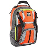 Ful Hexar Padded Laptop Backpack, fits up to 17-Inch Laptop, with Tablet/eReader Sleeve, Orange