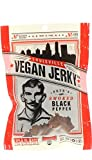 Louisville Vegan Jerky - Smoked Black Pepper, Vegan/Vegetarian Jerky, 21 Grams of Protein (3 oz.)