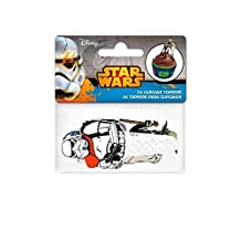 Star Wars Paper Cupcake Toppers 24 per pack