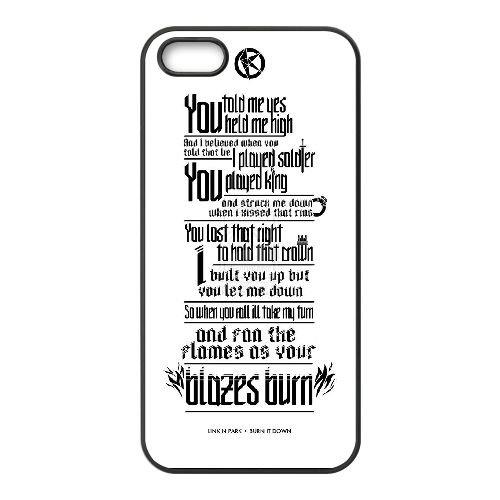 B6U07 Linkin Park V5N5KQ coque iPhone 5 5s cellule de cas de téléphone couvercle coque noire II6SKY8CP