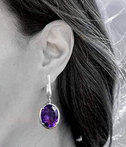 Exquisite Handmade Jewelry,Purple Designer Earring,Amethyst Earring,Horse Shoe Fastening Anniversary Gift,Sterling 925 Silver Jewelry ()