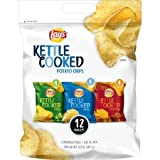 Lay's Kettle Cooked Potato Chips Variety Pack, 12 Count, 0.85 oz. Bags