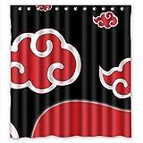 Anime Naruto Shower Curtain Cartoon Waterproof Shower Curtain 66''(w) x 72''(h)