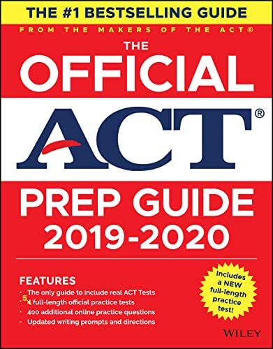 The Official ACT Prep Guide 2019-2020, (Book + 5 Practice Tests + Bonus Online Content)