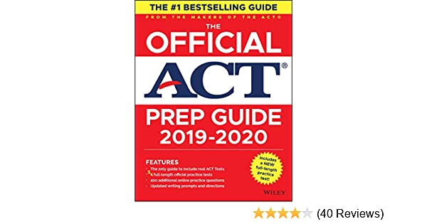 Amazon com: The Official ACT Prep Guide 2019-2020, (Book + 5