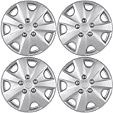 Hub-Caps for Select Honda Accord (Pack of 4) 15 Inch Silver Wheel Covers