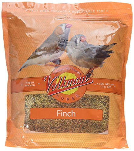Volkman Seed Avian Science Super Finch Nutritionally Balanced Diet Food 4 lbs (Bird Finch Avian Seed)