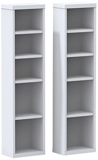 Charming Liber T CD/DVD Towers (2) 211003 From Nexera, White