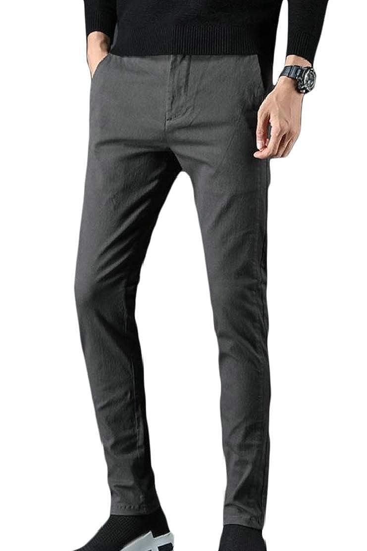 Cromoncent Men Mid Rise Straight Joggers Trousers Activewear Pants