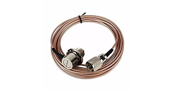 CUHAWUDBA Cable coaxial Rosado de 5 Metros UHF/PL-259 aplicable a ...