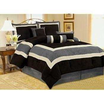 Amazon Com High Quality Micro Suede Queen Comforter Set