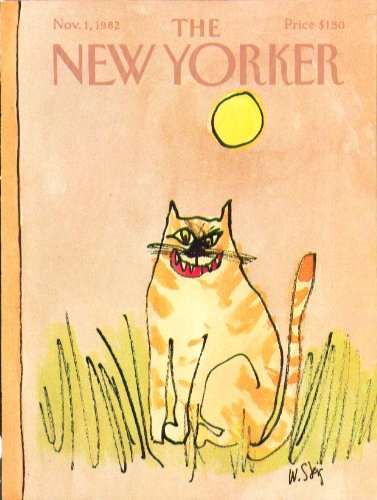 New Yorker cover Steig fearsome pussycat face 11/1 -