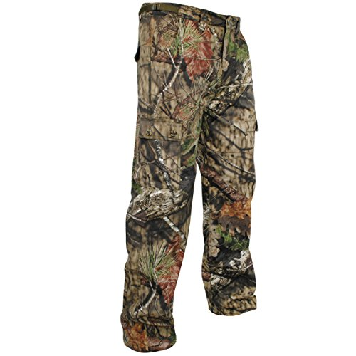 Mossy Oak Men's Camouflage Cotton Mill Hunting Pants Available In Multiple Camo Patterns