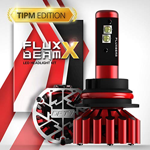 OPT7 Fluxbeam X 9007 LED Headlight Bulbs - TIPM Resistors Kit - 80w 8,400Lm 6K Daytime White CREE - All Bulb Sizes - 2 Yr Warranty - For Dodge, RAM, JEEP, Chrysler