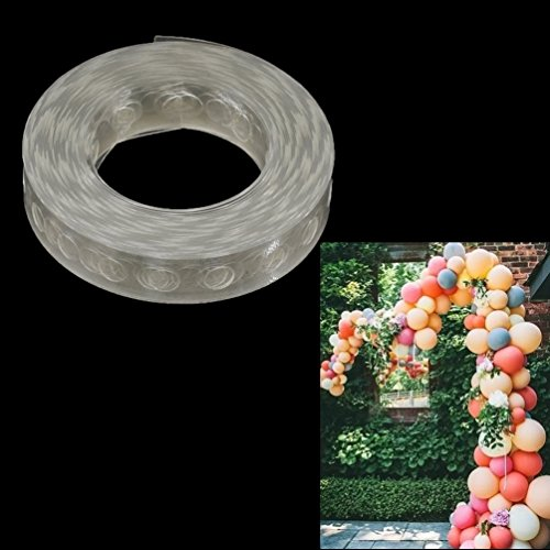 (Towashine 16Ft Balloon Decorating Strip Tape with Precut Holes No Adhesive for Hollween Christmas Arch Garland)
