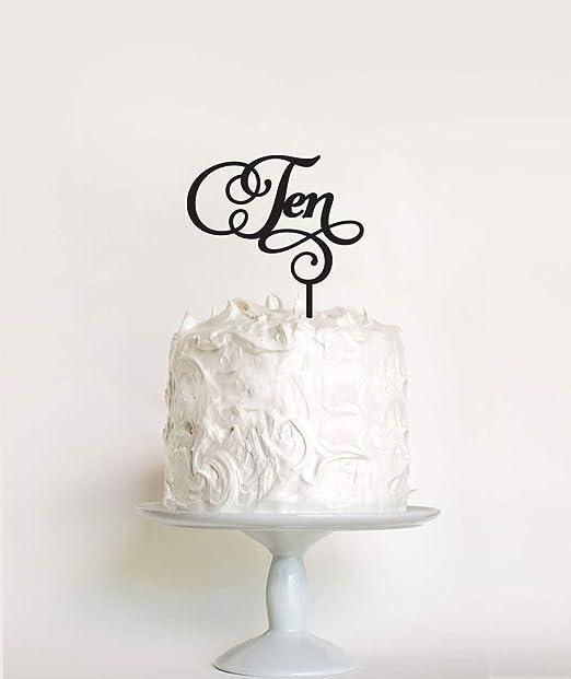 Decoración para tarta de 10º cumpleaños para niños o niñas ...