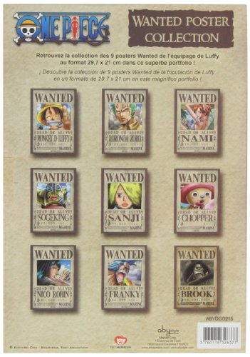 Amazon.com: One Piece portafolios – 9 Carteles: Wanted by ...