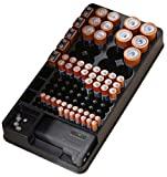 Battery Storage Organizer Holder with Tester - Battery Caddy Rack Case Box Holders Including Battery Checker Testers for aaa aa c d 9v Digital Small Assorted Batteries - Fits in a Drawer or Wall Mount