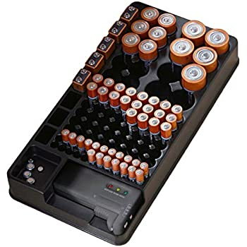 Amazon.com: The Battery Organizer Storage Case with Hinged
