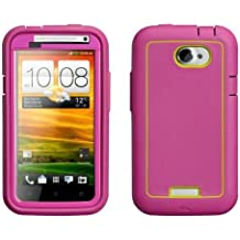 Case-Mate CM021277 Phantom Case for HTC One X - 1 Pack - Carrying Case - Retail Packaging - Raspberry/Lime
