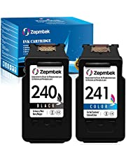 ZepmTek Remanufactured Ink Cartridge Replacement for Canon PG-240 CL-241 240 241 Used with Pixma MG3600 MG3222 MG3220 MG3620 MX432 MG3122 TS5120 MG2120 MX452 MX522 MG4220 Printer(1 Black,1 Tri-Color)