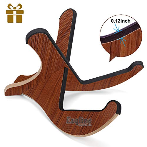 Exqline Wooden Guitar Stand with 0.12in Thickening Anti-Slip EVA Padding Universal Acoustic Guitar Stand Portable String Instrument Holder for Acoustic Classical Bass Guitars