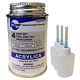 Weld-On 4 Acrylic Adhesive - 4 Oz and 3 Pack of Weld-On Applicator Bottle with Needle
