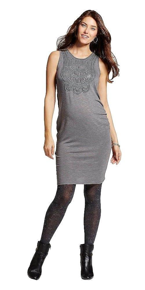 27921d223f47c Liz Lange Maternity Crochet Front Dress (X-Large, Heather Grey) at Amazon  Women's Clothing store: