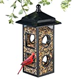 Collections Etc Fly Through Bird Feeder - Black, Metal, Hanging