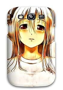 New Premium VHvTpFv14282ouxba Case Cover For Galaxy S3/ Headphones Brown Anime Nitroplus Super Sonico Protective Case Cover