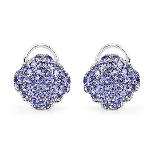 Johareez-Tanzanite-Cluster-Stud-Earrings-in-Sterling-Silver