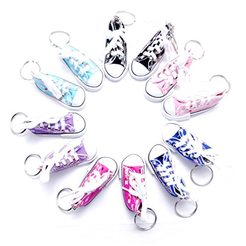 Favorict Canvas Mini Sneaker Shoe Keychain Keyring (Pack ...