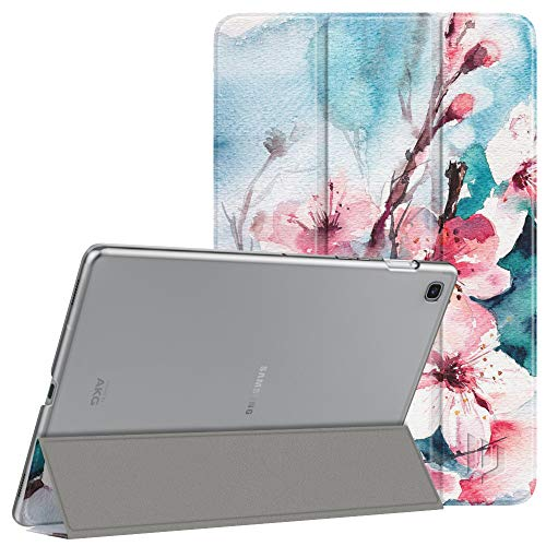 Dadanism Case Fit Samsung Galaxy Tab S5e 2019 Tablet Case 10.5 Inch(SM-T720/SM-T725), Ultra Slim Lightweight Trifold Stand Smart Cover with Auto Sleep/Wake, Peach Blossom (06 Peach Blossom)