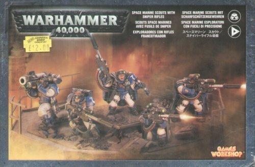 (Games Workshop: Warhammer 40k Space Marine Scouts w/ Sniper Rifles (5) GWS 48-29)
